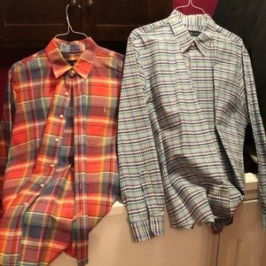 TWO mes's POLO button downs!